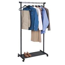 Garment Rack with Fabric Shelf