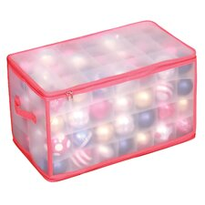 Holiday Frosted 112-Compartment Ornament Organizer