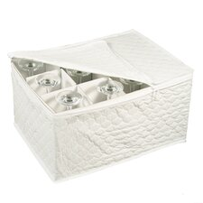 Tabletop Storage Vinyl Stemware Chest
