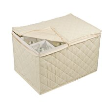 Tabletop Storage Cotton Stemware Chest