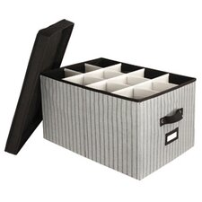 Tabletop Storage Stripe Stemware Chest