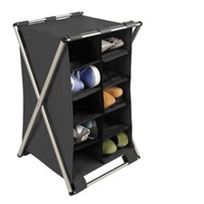 Free Standing Storage X-Frame 10 Shelf Storage Compartment