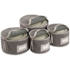 Tabletop Storage Deluxe/Micro Fiber Plate Case (Set of 4)
