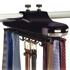Revolving Motorized Lighted Tie and Belt Rack Hooks Organizer