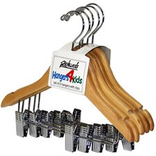 Wood Children's Clips Hanger (Set of 5)