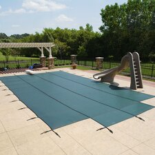 Rectangular Ground Pool Safety Cover with Center Step