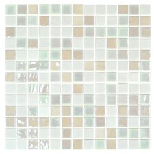 "Stone Glass Opalo 1"" x 1"" Mosaic in White"