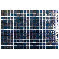 "Opalo 12-1/5"" x 18-1/10"" Glass Mosaic in Black"