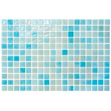 "<strong>Onix USA</strong> Colour Blend 12-1/5"" x 18-1/10""  Glass Mosaic in Aqua"