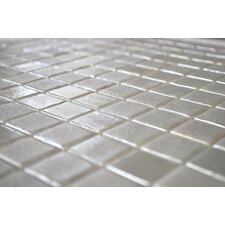 "Glamour Gold 13"" x 13"" Glass Mosaic in White Gold Blend"