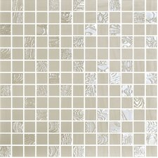 "Nature Blend 1"" x 1"" Glass Mosaic in Upsala Beige"