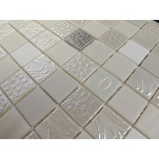 "Nature Blend 1"" x 1"" Glass Mosaic in Nambia"