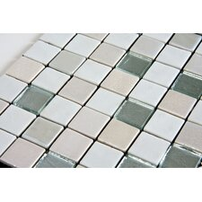 "Mystic Glass 1"" x 1"" Mosaic in Arola"