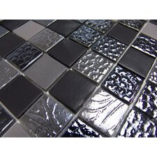 "Nature Blend 1"" x 1"" Glass Mosaic in Manati"