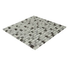 "Crystone CS007 11-4/5"" x 11-4/5"" Stone and Glass Mosaic"
