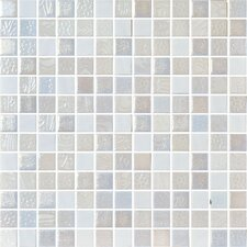 "Nature Blend 13"" x 13"" Glass Mosaic in Indico"