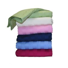 300 Thread Count All Natural Down Alternative 100% Cotton Filled Throw
