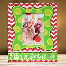Sittin' On Santa's Lap Picture Frame