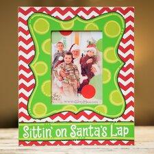 Sittin' On Santa's Lap Picture Frame