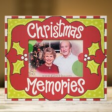 Holly Christmas Memories Picture Frame