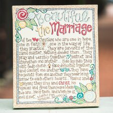 Beautiful The Marriage Table Top Textual Art on Canvas