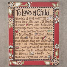 To Love A Child Canvas