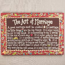 Art of Marriage Textual Art on Canvas