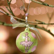 Ballerina Dots Ball Ornament