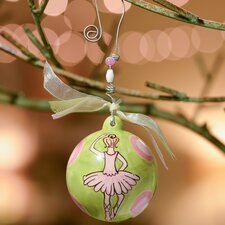 Ballerina Dots Ball Ornament