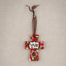 Love Ceramic Ribbon Cross