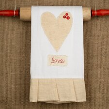 <strong>Glory Haus</strong> Natural Heart with 3 Buttons Tea Towel