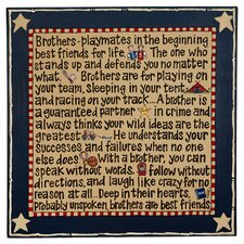 Brothers Textual Art on Canvas