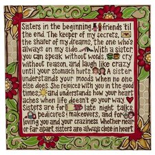 Sisters Textual Art on Canvas
