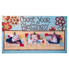 Count Your Blessings Clip Memorabilia on Canvas