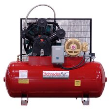 240 Gallon Professional Series 2 Stage 15 HP Horizontal Air Compressor with After Cooler