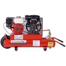 8 Gallon Horizontal Compressor For Contractors Gas Powered Air Compressor