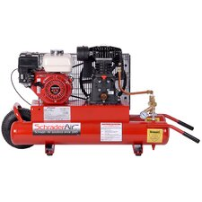 8 Gallon Horizontal Compressor For Contractors Gas Powered Air Compressor