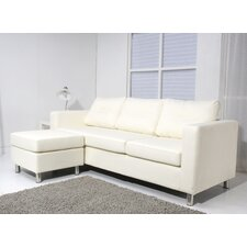 <strong>Leader Lifestyle</strong> Osaka Faux Leather 3 Seater Sofa