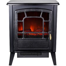 Bern Retro Style Floor Standing Electric Fireplace