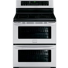 Gallery Series Electric Freestanding Symmetry Double-Oven Range with Auto Keep Warm