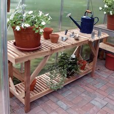 <strong>Juliana Greenhouses</strong> 5' Greenhouse Cedar Potting Table