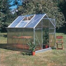 "Basic 6' 6"" H x 7'4"" W x 6'6"" D Plastic Greenhouse"