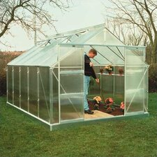 "Compact 7' 3"" H x 12'2"" W x 9'1"" D Polycarbonate Greenhouse"