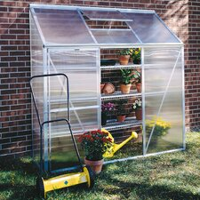 "6' 5"" H x 6'3"" W x 2'2"" D Mini Polycarbonate Lean-To Greenhouse"