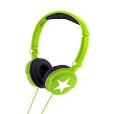 Bright Green Stereo Headphones