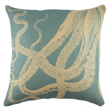 Octopus Burlap Pillow