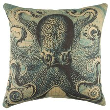 Octopus with Map Pillow
