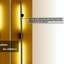 <strong>LumenArt</strong> Stilletto Duo 2 Light Wall Sconce