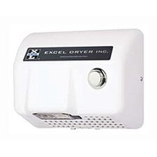Lexan Push Button Surface Mounted 110 / 120 Volt Hand Dryer in White