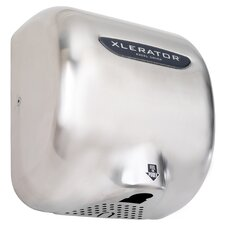 XLERATOR Automatic Surface Mounted 208 Volt Hand Dryer in Brushed Stainless Steel